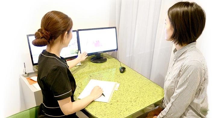 京都市左京区 おおくぼ歯科クリニックのカウンセリングシステム