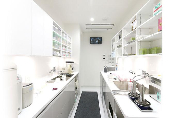 京都市左京区 おおくぼ歯科クリニックの滅菌専用室